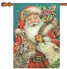 New listing New Toland - Santa and Friends - Holiday Christmas Winter Animal House Flag