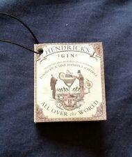 Original hendricks gin bottle booklet information tag empty upcycled