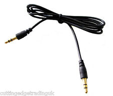 Black 3.5mm Jack Male to Male 2M Stereo Audio Cable Lead Extension Gold UK