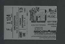 2nd Annual Mtv Music Awards concert ticket stub 1985 Eddie Murphy Eurythmics