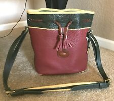 Dooney & Bourke All-Weather-Leather Teton Drawstring Bucket Bag