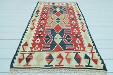 "Small Turkish Kayseri Kilim, Doormat Bathmat Small Area Rug Carpet Tapis 35""x61"""