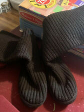 UGG BOOTS KNIT SWEATER BOOTS BLACK TALL 3 BUTTON WOMEN'S 8