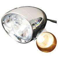 4″ Motorcycle Bike Chrome Bullet Headlight Spot Fog Lamp Bulb For Harley Ch M4S8
