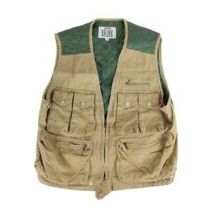 On The Brink Vintage Men's Medium Fishing Vest Button Up Shirt Medium