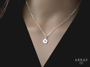 Sterling Silver .925 Simple Minimalist Tiny Dandelion Stamped Charm Necklace
