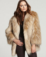 JUICY COUTURE WILD BLONDE FAUX FUR FEATHER JACKET ORG. $548.00 SIZE M/L BNWT