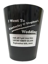 150 New PERSONALIZED PLASTIC SHOT GLASSES Party Wedding Favors