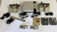 Nintendo Entertainment System NES-001 Video Game Console Bundle Set