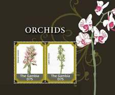 Gambia 2015 - flowers, orchids - Souvenir Sheets  - MNH