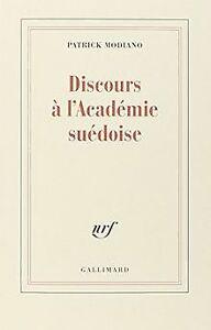 Discours à l'Académie suédoise de Modiano,Patrick | Livre | état très bon