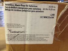 Cardinal Health WAC25x30C Hazardous Waste Bags for Autoclave 25in x 30in 200/Bx