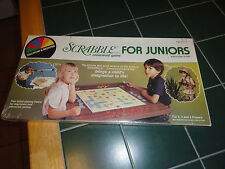 ~Vintage~Scrabble for Juniors Crossword Game Selchow & Righter1982 Factory Seald