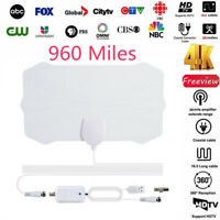 960 Mile HDTV Antenna TV Digital 1080p Skywire 4K W/Amplifier Signal Booster
