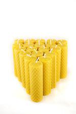20 Tafelkerzen Wabenmuster gerollt 100% Imker Bienenwachs Kerzen aus Handarbeit