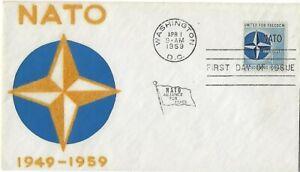'59 FDC for NATO SC#1127 on Velvetone Cachet