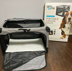 You & Me Stow & Go Portable Canvas Dog Crate With Carrying Handle Medium EUC!