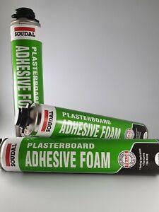 Box of Soudal Plasterboard Adhesive Foam 750ml - 12 Per Box Free Delivery!