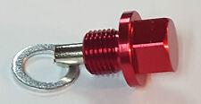 TOYOTA M12x1.25 MAGNETIC SUMP OIL DRAIN PLUG CELICA MR2 SUPRA STARLET GLANZA RED