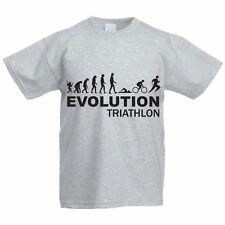 EVOLUTION TRIATHLON - Swim / Bike / Run  Sport / Funny Children's Themed T-Shirt