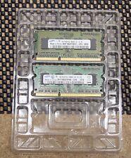 SAMSUNG 2GB (1GB X 2) DDR3 LAPTOP MEMORY  (PC3-8500 & PC3-105600)