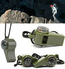 Hot 3in1 Outdoor Camping Hiking Emergency Survival Thermometer Whistle Compass E