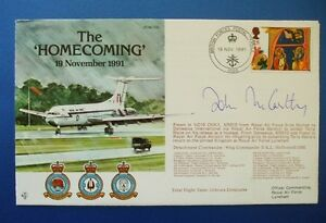 1991 'THE HOMECOMING'  SET OF 3 FDCS SIGNED BY 4 INC TERRY WAITE & JOHN McCARTHY