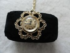17 Jewels Vendome Mechanical Wind Up Vintage Necklace Pendant Watch