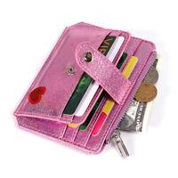 Laser Leather Magic Slim Wallet Trend Women Credit Coin Money Clip Card Holder