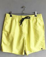 Quiksilver Mens FRUIT BAT VOLLEY BOARDSHORT Boardies Shorts Mens Size M - Yellow