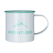 Adventurer Coffee Mug Galvanised Steel Powder Coated 350ml Camping Tea Cup