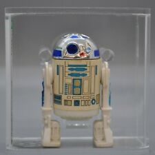 Vintage 1977 Kenner R2-D2  DARK BLUE  Loose Figure AFA 75 EX+ NM NEW CASE R2D2