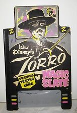 ZORRO vintage Disney best magic slate  Game Zorro nice clean 13 by 8.5 Iinches