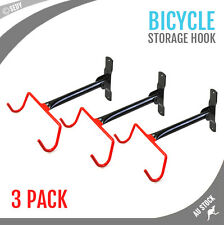 3x Wall Mount Bike Hanging Hook Steel Rack Bicycle Display Garage Storage Hanger