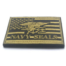 U.S. NAVY SEAL TEAM TRIDENT USA FLAG MORALE BADGE AIRSOFT TACTICAL HOOK PATCH #3