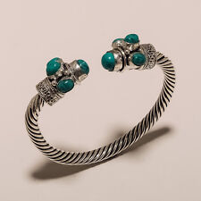 VERY BEAUTIFUL TURQUOISE 925 STERLING SILVER PLATED GEMSTONE BRACELET JEWELLERY