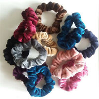 5PCS Velvet Elastic Scrunchie Hair Rope Tie Ponytail Holder Women Accessories H7