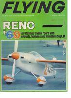Flying Magazine (Aug 1969) (Reno 1969, Beech Bonanza, Aviation Insurance)