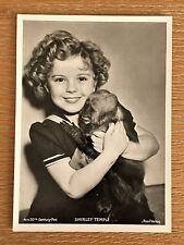 Shirley Temple 1937 Union Dresden Film Star Series 10 5X7 Cigarette Photo Card
