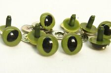 Sassy Bears 24mm Green Safety Cat Eyes for bears dolls crafts (5pairs)