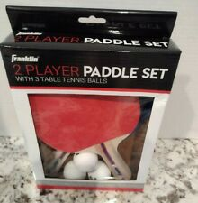 Ping Pong Paddles Franklin 2 Player Table Tennis Paddle Kit 3 Tennis Balls NIB