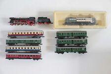 6743/8- Bastlerkonvolut Spur N Personenzüge Minitrix + Arnold Elektro- +Dampflok