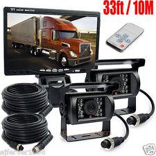 "12-24V IR Reverse Rear View 4PIn Camera +7""LCD MonitoR FOR AUTO VAN Truck Kit"