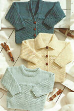 "Baby Knitting Patterns Cardigans Sweater 12-24"" Prem sizes DK Boys Girls 549"