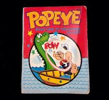 Vintage 1967 Big Little Books Popeye Ghost Ship To Treasure Island Soft Cover