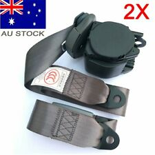 2X For AU Ford 3-Points Universal Safety Seat Belt Seatbelt Strap Retractor Grey