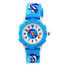 Kids Waterproof Cartoon Silicone Wrist Watch Boy Girls Christmas Gift Box USA
