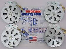 4 Pack Mechanical Fisher's Yo Yo Fishing Reels (Flat Trigger Model)