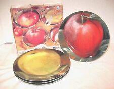 American Atelier Delicious Apples 5297 Salad or Wall Decor Plates Set of 4 NIB
