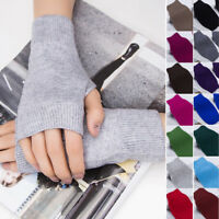 1 Pair Women Cashmere Fingerless Winter Warm Gloves Hand Wrist Warmer Mittens-WI
